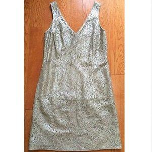 DVF Karolina Leather Dress Rare Sz 6
